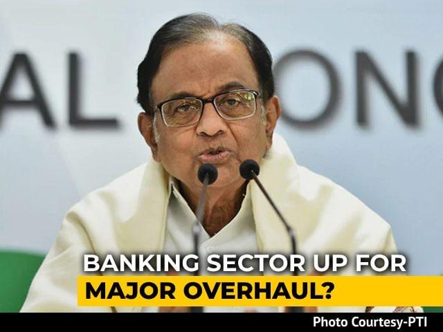 """Video : """"Dangerous Agenda"""": P Chidambaram's Warning On Corporates In Banking"""