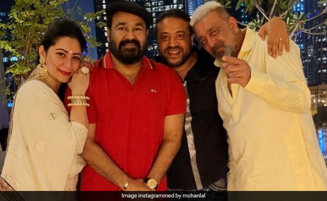 Trending: Pics Of Mohanlal Celebrating Diwali With Sanjay Dutt And Maanayata In Dubai