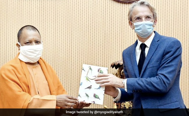 French Ambassador Meets UP Chief Minister Yogi Adityanath In Lucknow