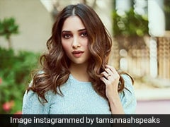 Tamannaah Bhatia's Icy Blue Shimmery Dress Is Party Season Perfect