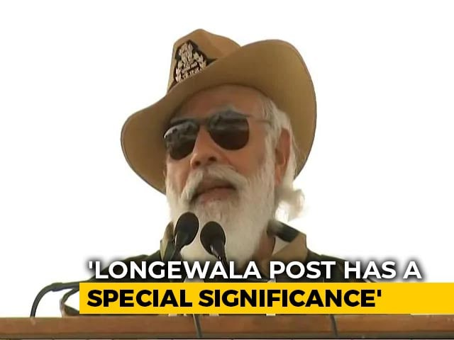 Video : PM Spends Diwali With Soldiers In Jaisalmer, Remembers Battle Of Longewala