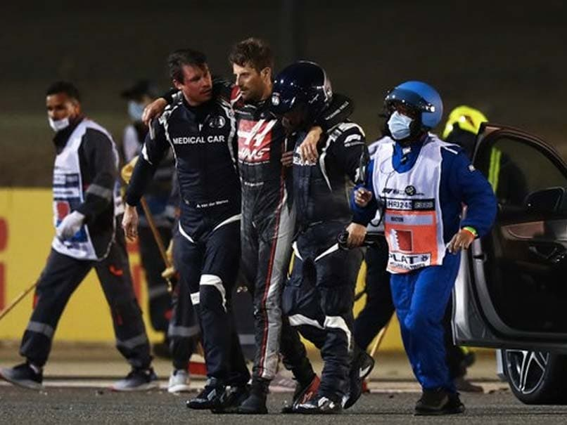 Grosjean escaped an accident that many felt was likely to be fatal