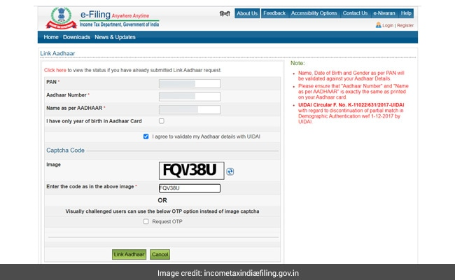 , How To Link Your Aadhaar Number With PAN, Indian & World Live Breaking News Coverage And Updates