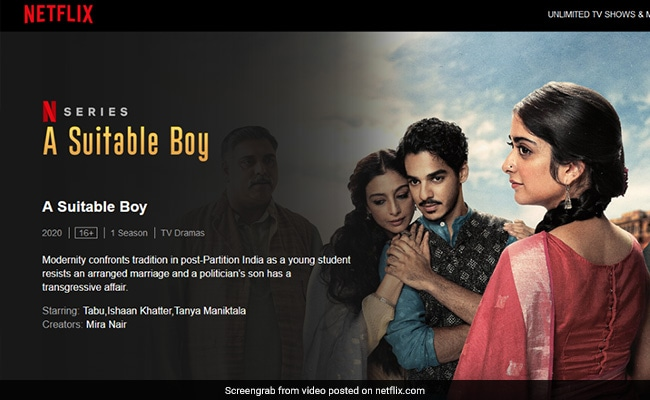 'Netflix's 'A Suitable Boy' Hurt Hindu Sentiments': BJP Youth Wing Leader