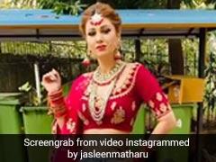 Jasleen Matharu ने दुल्हन की ड्रेस में दिखाया स्वैग, बोलीं- मैं चली ससुराल- देखें Video