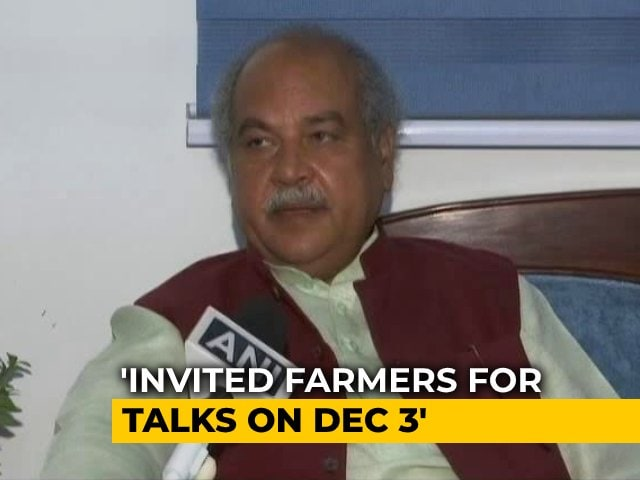 Video: Union Agriculture Minister Appeals To Farmers To End Protest, Offers Talks