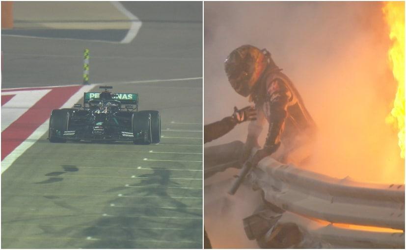Lewis Hamilton took his career's 95th win, while Romain Grosjean escaped a horrific crash in Bahrain