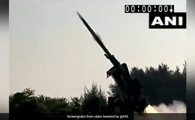 Watch: India's Deadly Quick Reaction Missile Strikes Target In Seconds