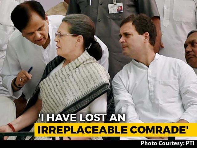 "Video : ""Irreplaceable Comrade"": Sonia Gandhi Mourns ""Friend"" Ahmed Patel"