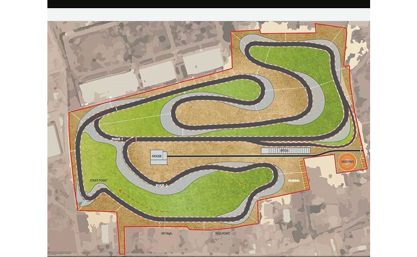 The Pista Motor Raceway will be located about an hour away from the Hyderabad airport