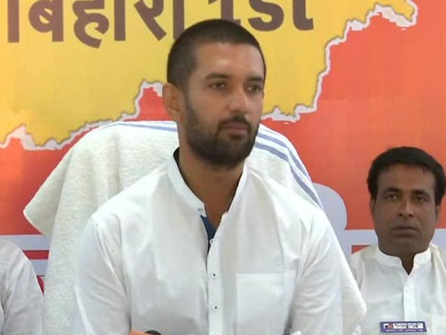 "Video : Chirag Paswan Now Says All He Wanted Was ""To Make BJP Stronger"""