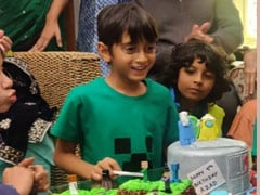 Ira Khan Takes Us To Brother Azad's Minecraft Themed Birthday Party
