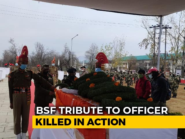 Video : Tribute Paid To BSF Sub-Inspector Killed In Pakistan Ceasefire Violation