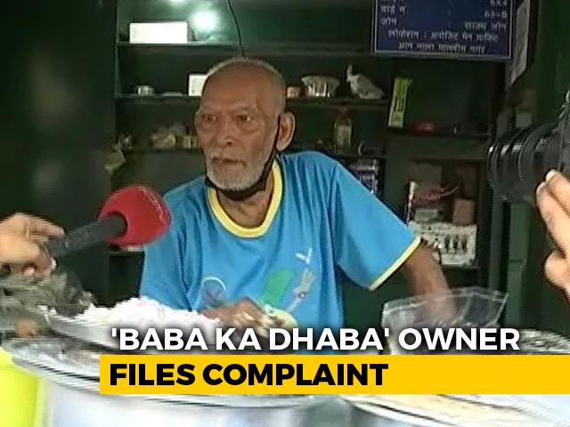 "Video : ""Baba Ka Dhaba"" Owner Alleges YouTuber Collected Funds Without Informing"