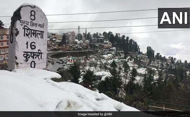 Fresh Snowfall In Himachal Pradesh, Keylong Shivers At -9.9 Degree