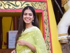 Malavika Mohanan's Green <i>Anarkali</i> Suit Lends A Pop Of Colour In Time For Diwali