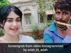 शख्स ने बांसुरी से निकाली 'रश्के कमर' सॉन्ग की धुन, तो यूं इंप्रेस हुईं अदा शर्मा...देखें Video