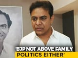 Video : BJP Trying To Stoke Hatred in Hyderabad, Says KTR