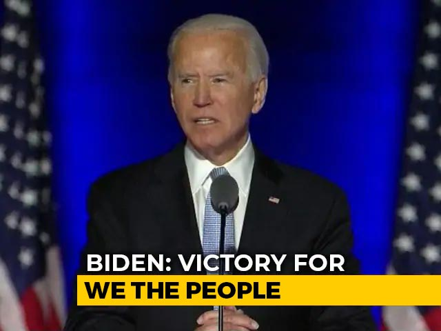 """Video : """"Will Be President Who Seeks Not To Divide, But To Unite"""": Joe Biden"""
