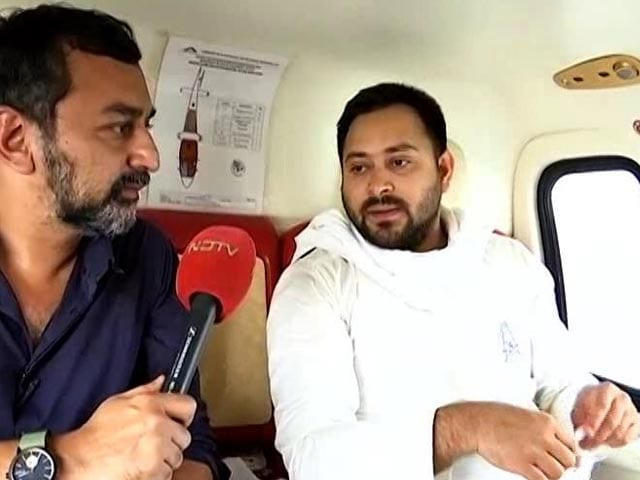 "Video : ""Some People Have 30 Helicopters, No Questions Asked"": Tejashwi Yadav On Use Of Chopper"