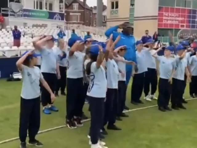 Watch: Cottrell Teaches Children Salute Celebration In Adorable Video