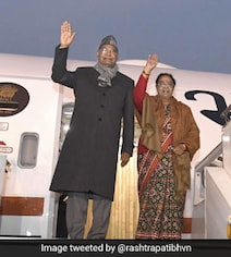 President Boards Custom-Made Air India One Aircraft For Inaugural Flight