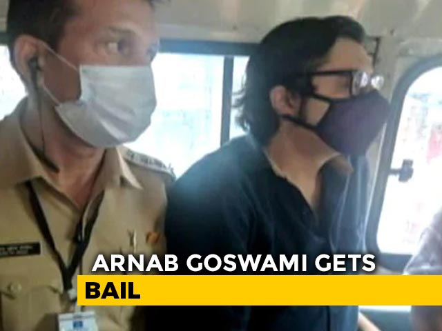 Video : TV Anchor Arnab Goswami Gets Interim Bail From Supreme Court