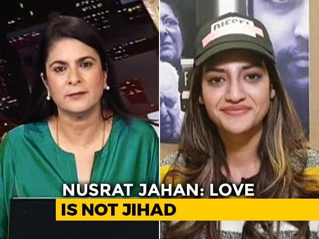 """Video : """"Not Under Hitler's Rule"""": Trinamool's Nusrat Jahan On """"Love Jihad"""" Row"""