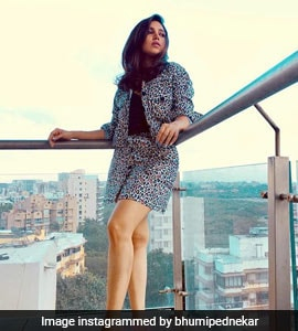 Bhumi Pednekar Layers Up Fabulously In Leopard Prints For Autumn