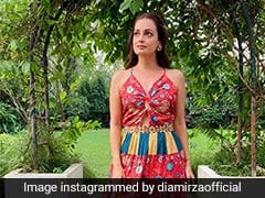 Dia Mirza Is Proof That Colourful Maxis Can Be Worn All Year Round
