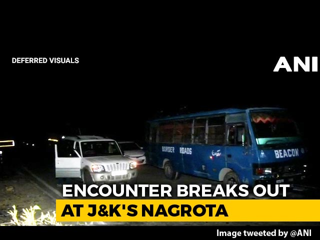 Video : Encounter Breaks Out In J&K's Nagrota, Jammu-Srinagar Highway Closed