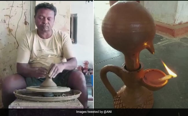 Chhattisgarh Potter Makes 'Magic Lamps' That Burn For 24 Hours, Flooded With Diwali Orders