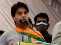 """Vote For Hand Symbol"": Jyotiraditya Scindia's Faux Pas At Rally"
