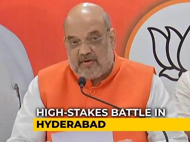 Video : After Yogi Adityanath, JP Nadda, BJP Unleashes Amit Shah In Hyderabad