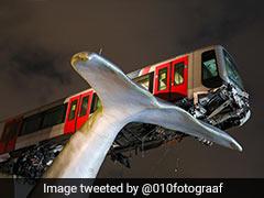 स्टेशन तोड़कर आगे निकली मेट्रो, पटरी से उतरी तो व्हेल की 'पूंछ' ने ऐसे रोका बड़ा हादसा