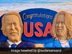 Odisha's Sudarsan Pattnaik Creates 25-Feet Long Sculpture To Congratulate Joe Biden, Kamala Harris