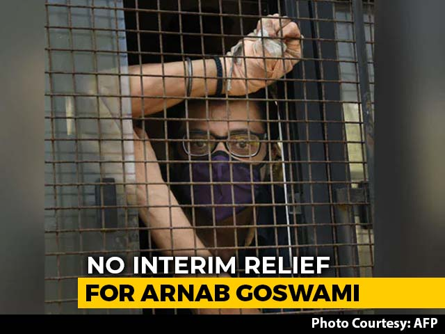 Video : For Arnab Goswami, High Court Refuses Bail, Lower Court Verdict By Friday