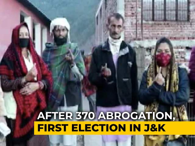 Video : J&K Votes In Local Body Polls, First Election After Losing Special Status