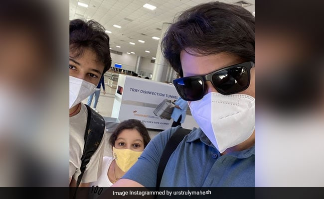 'Life's Back On Track': Mahesh Babu Shares Pic With Son Gautham And Daughter Sitara From Airport