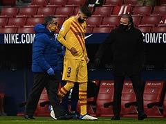 La Liga: Blow For Barcelona As Gerard Pique Knee Injury Confirmed