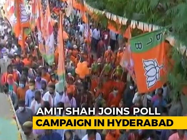 Video : BJP Pulls Out Big Guns For Local Polls In Hyderabad