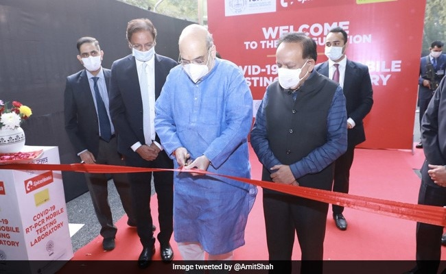 Photo of Home Minister Amit Shah Launches Mobile Covid RT-PCR Lab In Delhi
