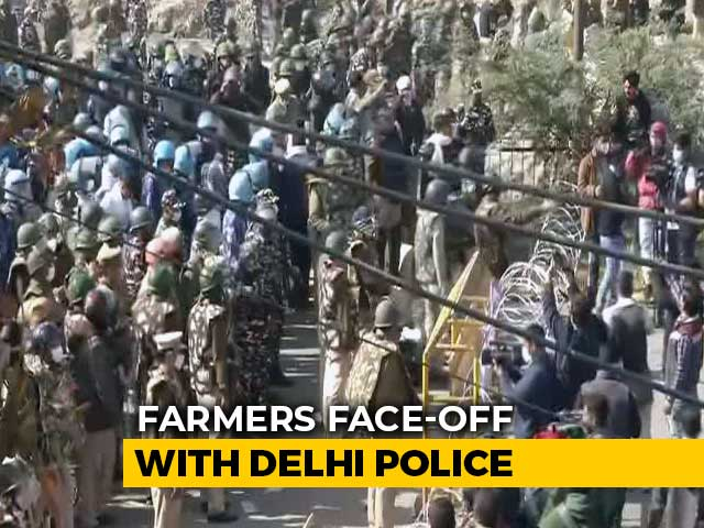 Video : Barbed Wires, Trucks As Barriers To Keep Farmers From Delhi