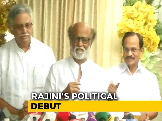 """Video : """"It's Now Or Never"""": Rajinikanth To Launch Party In January"""