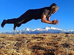 12,000 Feet Above Sea Level, Milind Soman Is Working Out With A View Of Mount Everest