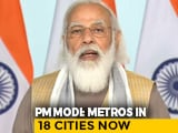 Video : Prime Minister Flags Off India's First Driverless Train For Delhi Metro