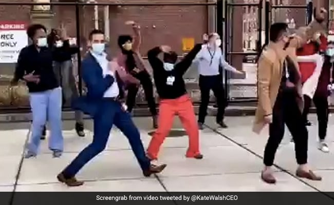Healthcare Workers Dance To Celebrate Arrival Of Covid Vaccine In Viral Video