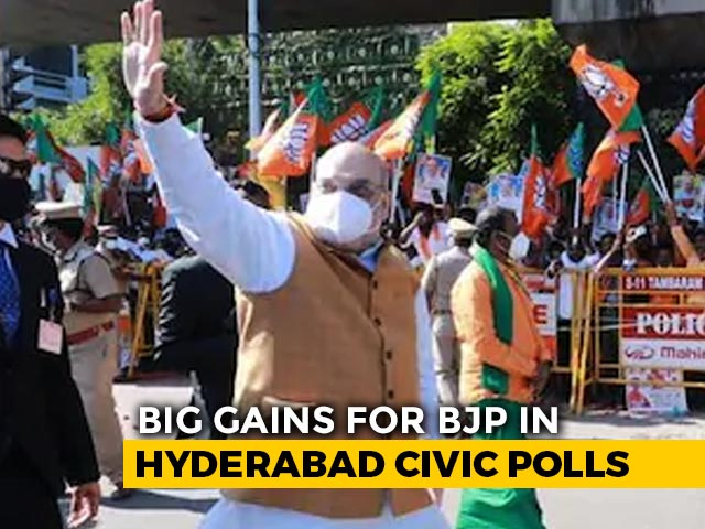 Video : BJP Surge In Hyderabad Local Polls Ruins KCR's Victory Party