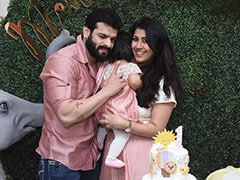 Actor Karan Patel Shares Pics From Daughter Mehr's First Birthday Celebrations