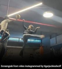 टाइगर श्रॉफ ने ऊंची छलांग लगाकर मारी बॉल में किक, Video 9 लाख के पार